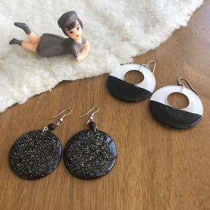 💎 2 Pairs Nice Large Round Earrings